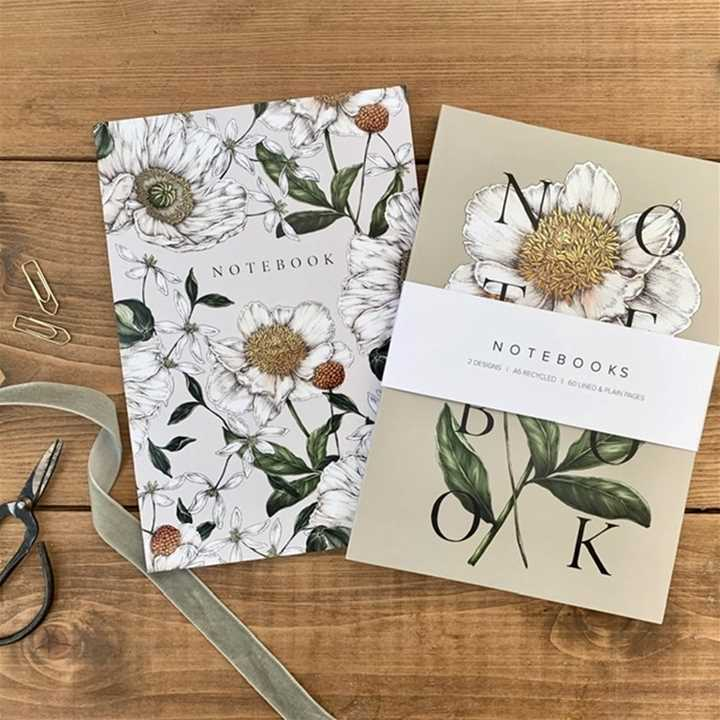 Catherine Lewis Designs 'Spring Blossoms' A5 Notebooks
